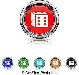 Dice icon - six colours set