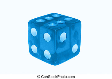 dice isolated over a white background