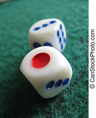 dice on casino table