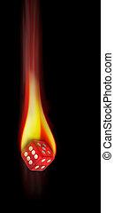 Dice on Fire.