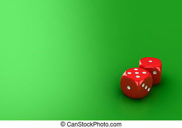 Dice on the green