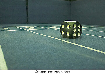 Dice on the table gaming craps