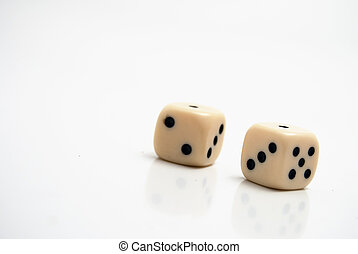 Dice on white