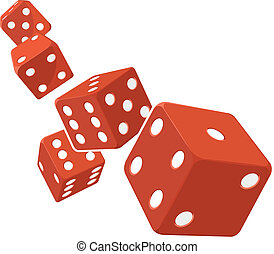Dice Rolling with White Background - A vector image of...