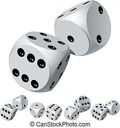 Dice rolls - Set of dice rolls. Vector illustration