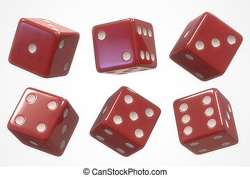 Dice Six Sides - The six sides of the dice on white ...