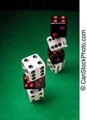 Dice Stack Gambling Concept