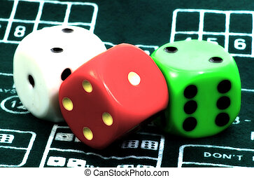 Dice With Blur Effect