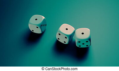 dice with blue background - The gambling concept
