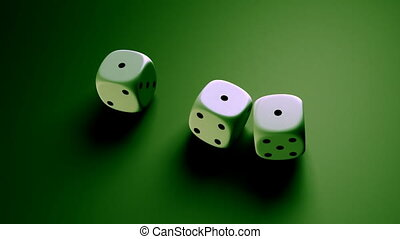 dice with green background - The gambling concept