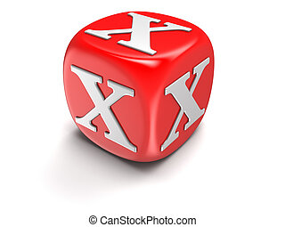 Dice with letter X - Dices with letter X. Image with ...