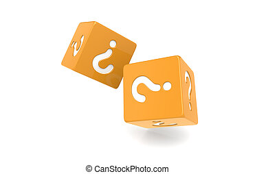 Dice with Question Mark.