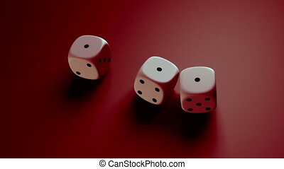 dice with red background - The gambling concept