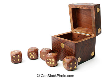 Dice wooden set