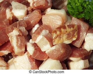 diced bacon