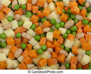Diced Cube Raw Vegetables - A collection of raw diced ...