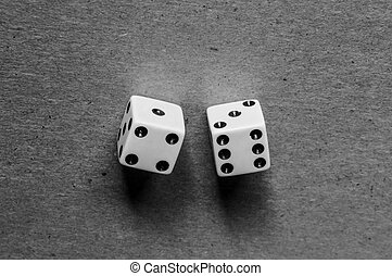 Dices isolated on gray background