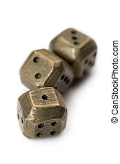 Dices isolated on white