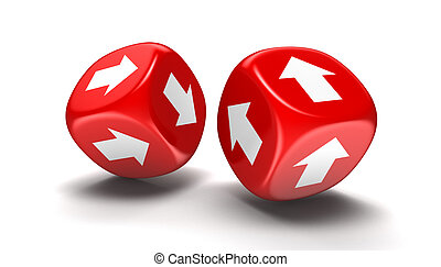 Dices with arrows