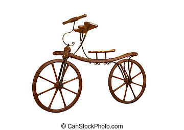 dichtbegroeid boven, hand, houden, fiets hengsel