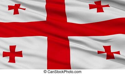 dichtbegroeid boven, zwaaiende , nationale vlag, van, georgië