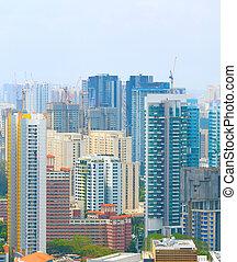dichtheid, bouwsector, architectuur, singapore, bouwterrein