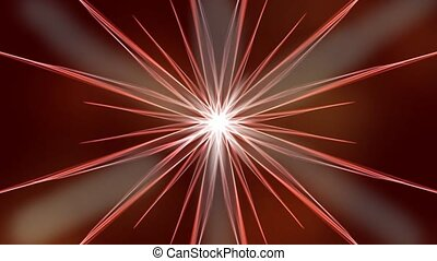 Dicso star background, orange light beams glowing on dark red background, hot white rays in the center, color reflections