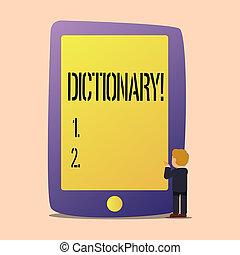 dictionary., 勉強, ビジネス, 写真, 提示, book., 執筆, メモ, synonyms, もう1(つ・人), showcasing, vocabs