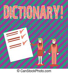 dictionary., 勉強, ビジネス, 写真, 提示, book., 執筆, synonyms, もう1(つ・人), テキスト, 概念, vocabs, 手