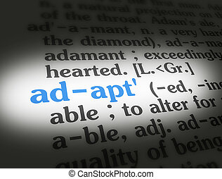 Dictionary - Adapt Blue On White