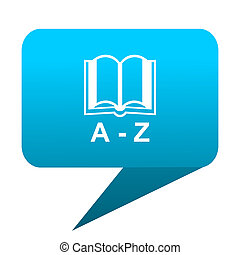 dictionary blue bubble icon