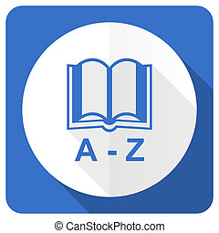 dictionary blue flat icon