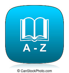 dictionary blue icon