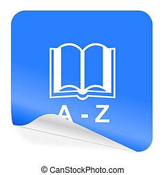 dictionary blue sticker icon