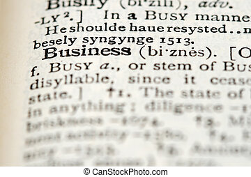 Dictionary Definition - Business