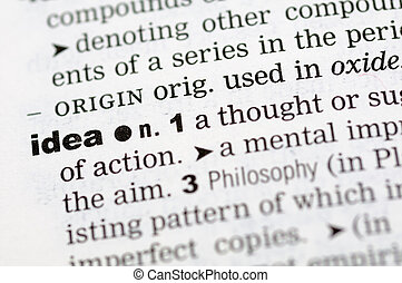 Dictionary definition of idea
