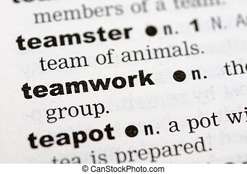 Dictionary definition of teamwork
