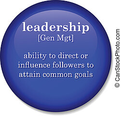 dictionary definition of the term leadership - Illustration...