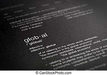 Dictionary definition of the word global