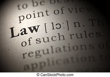 law - Dictionary definition of the word law.
