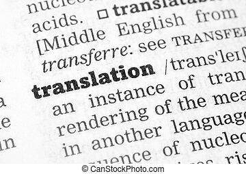 Dictionary definition translation