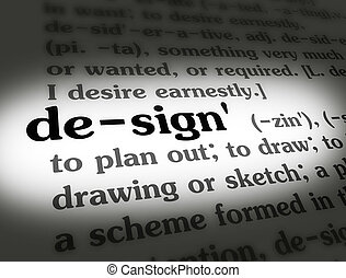 Dictionary Design Black On White