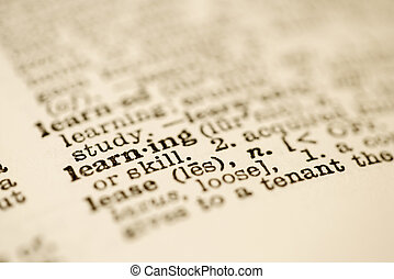 Dictionary entry for learning. - Selective focus of...