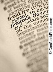 dictionary., financiën
