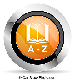 dictionary orange icon