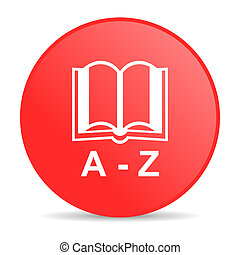 dictionary red circle web glossy icon