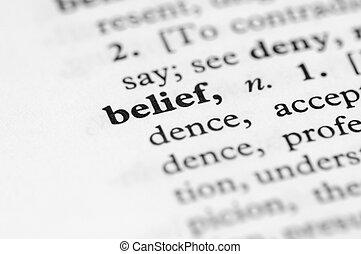 Dictionary Series - Belief