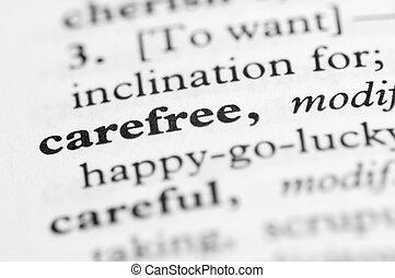 Dictionary Series - Carefree