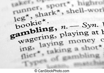 Dictionary Series - Gambling