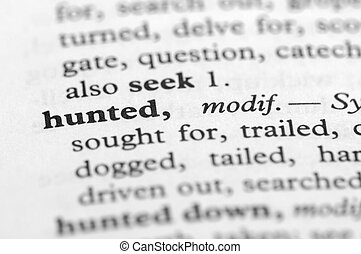 Dictionary Series - Hunted
